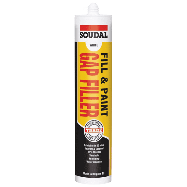 Soudal Fill & Paint Gap Filler White 300ml Box of 12 - SPF Construction Products