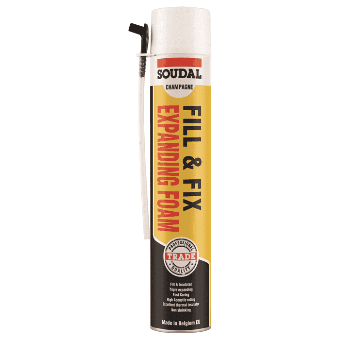 Soudal Fill & Fix Expanding Foam Straw 750ml Box of 12 - SPF Construction Products