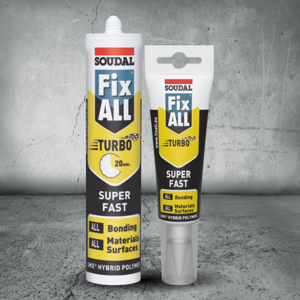 Soudal Fix ALL Turbo 125ml White Box of 10 - SPF Construction Products