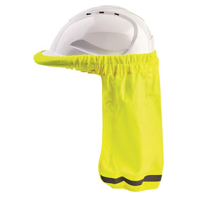 ProChoice Hard Hat Neck Sun Shade Fluro Yellow with 100% Polyester (1443709780040)