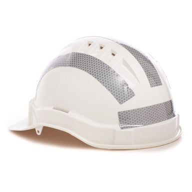 ProChoice Hard Hat Retro Reflective Silver Tape 25mm Curved 10 strips