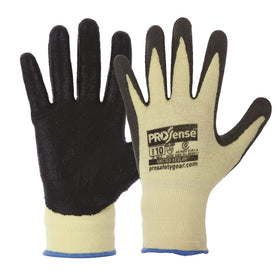 ProChoice 13 Gauge Knitted Kevlar With Black Nitrile Palm Gloves Pack of 12