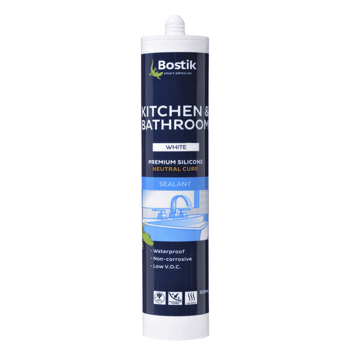 Bostik Kitchen & Bathroom Silicone Neutral Cure 300ml ctg Box of 20 Silicone Sealants Bostik Transparent