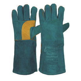 ProChoice Pyromate South Paw Left Hand Pair -Green & Gold Kevlar Glove Green