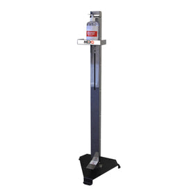 MediQ Metal Silver Hands Free Sanitising Station