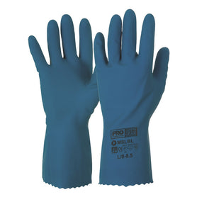 ProChoice Silver lined with Natural Rubber Blue Gloves Pack of 12 (1445108973640)