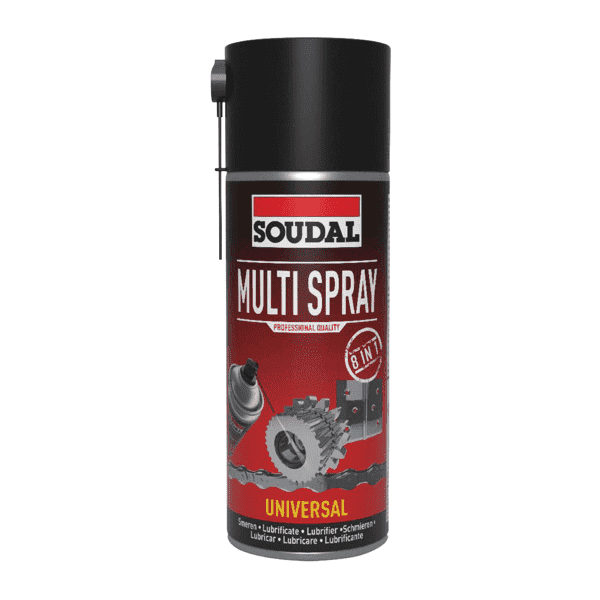 Soudal Multi Spray 8:1 400ml Box of 6 Cleaners & Solvents Soudal