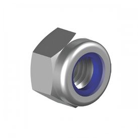 Inox World Stainless Hex Nylon Insert Lock Nut A2(304) UNC Pack of 25 (4023412490312)