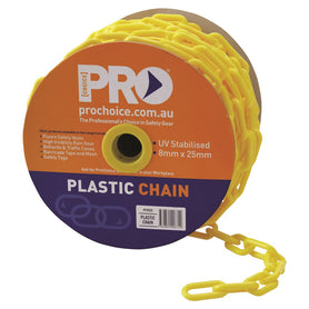 ProChoice 8mm Uv Stabilised Yellow Chain 25 Metre Roll - Propcy825 (1445303156808)