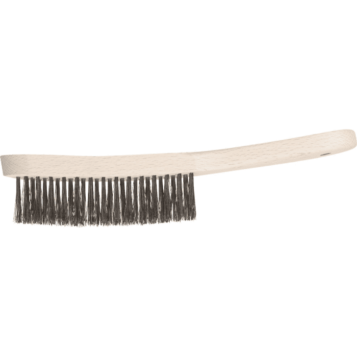 Pferd Hand Scratch Brush Inox Wire Wooden HBK 30 St 0.35 Pack of 10 - SPF Construction Products
