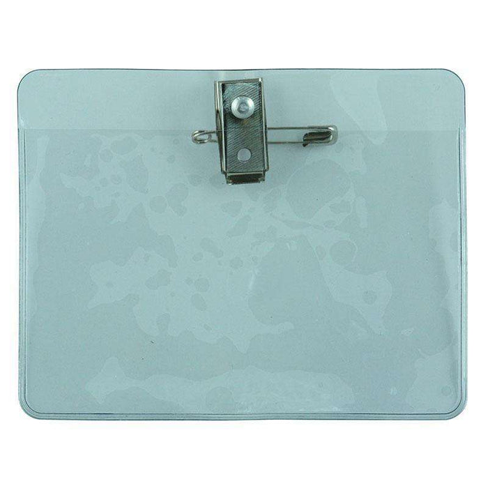Sheffield ID Badge Holder W/Pin & Clip Clear (10pcs) Office & Stationery Accessories Sheffield (1588009926728)