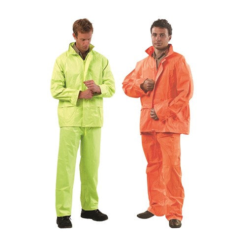 ProChoice Hi-vis Rain Suit Hood W/ Drawstring Pvc Coated and Polyester