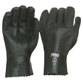 ProChoice 27cm Green Double Dipped PVC Gloves Large Pack of 12