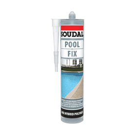 Soudal Pool Fix Crystal 290ml Box of 6 Tiling Adhesive Soudal