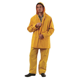 ProChoice Yellow 3/4 Length Pvc/Polyester Jacket Rain Jacket (1445199511624)