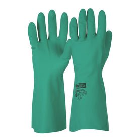 ProChoice Green Nitrile Rubbe Gloves Pure Cotton Lining Pack of 12