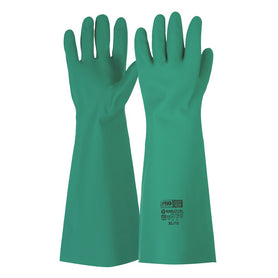 ProChoice 45cm Green Nitrile Gauntlet Gloves Pure Cotton Pack of 12
