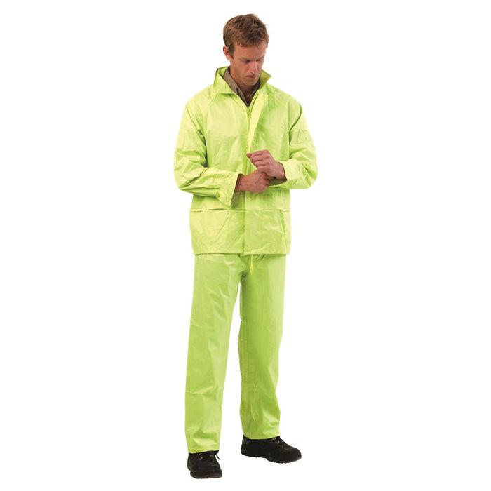 ProChoice Hi-vis Rain Suit Hood W/ Drawstring Pvc Coated and Polyester (1445202034760)