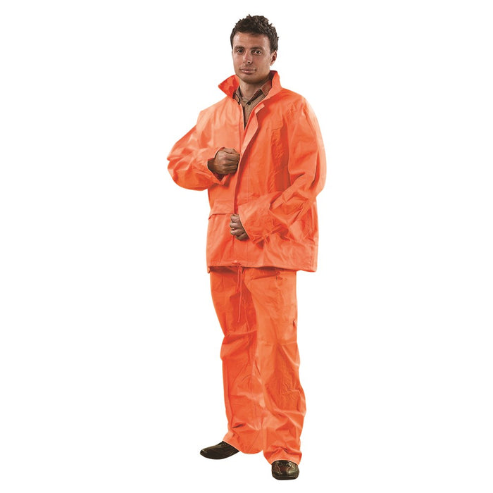 ProChoice High Vis Rain Suit Jacket & Pant Set - RSHV Box of 20 Rain Gear Prochoice Orange Small (1445202034760)