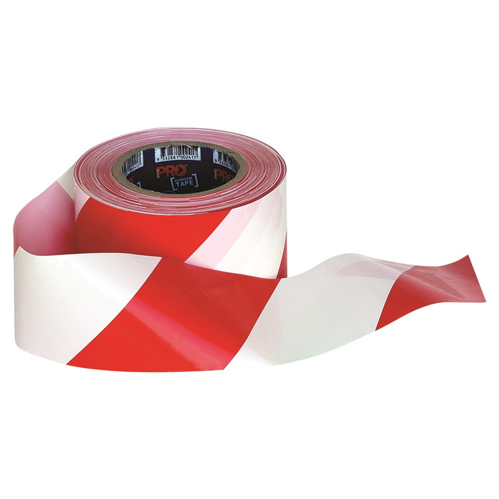ProChoice Barricade Heavy Duty Plastic Tape 100m X 75mm Red & White (1445280481352)