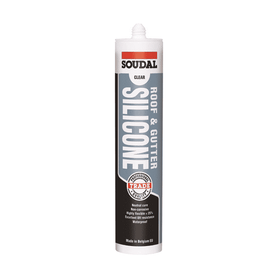 Soudal Roof & Gutter Silicone 300ml Box 12 Adhesive & Sealants Soudal