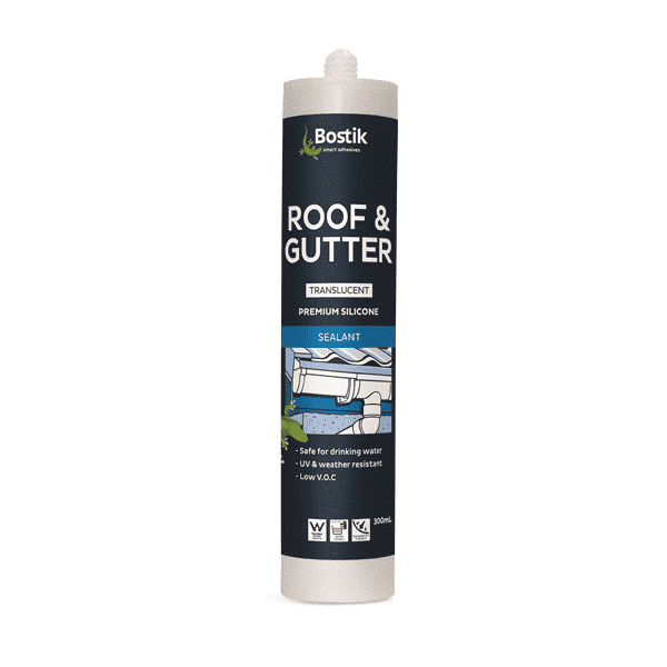 Bostik 300ml Premium Roof & Gutter Silicone Sealant Box of 20 - SPF Construction Products