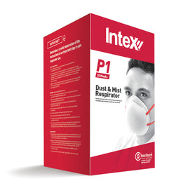 Intex Plasterx Dust & Mist Resp 2 Strap Box of 20 (3890487459912)