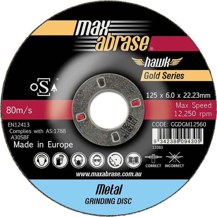 Sheffield Maxabrase Grinding Disc - Metal Gold Series Carded 2 Pack