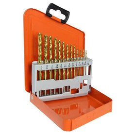 Sheffield Alpha 13 Piece 13pc ImperialGold Series Metal Case Drill Set (1590173270088)