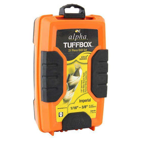 Sheffield Alpha 21 Piece Imperial Gold Series Tuffbox Jobber Drill Set (1590176809032)