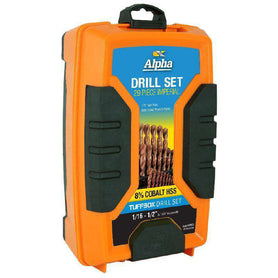 Sheffield Alpha 29 Piece Imperial Cobalt Series Tuffbox Jobber Drill Set (1590178185288)
