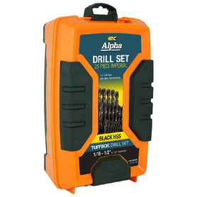 Sheffield Alpha Imperial Tuffbox Drill Set Straight Shank Black 21Pce (3962179059784)