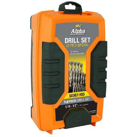 Sheffield Alpha 29 Pce Imperial Silver Series Tuffbox Jobber Drill Set (1590179987528)