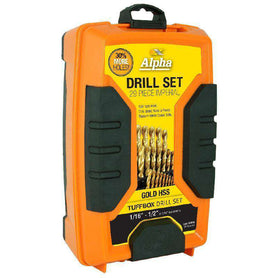 Sheffield Alpha 29 Piece Imperial Gold Series Tuffbox Jobber Drill Set (1590178938952)