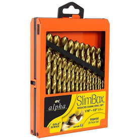 Sheffield Alpha 29 Pce Reduced Imperial Slimbox Gold Jobber Drill Sets (1590180806728)