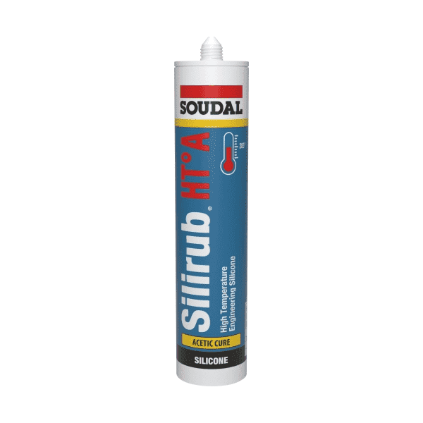 Soudal Silirub HT-A Acetic Cure Black 310ml Box of 15 - SPF Construction Products