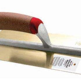 Intex Flat Gold-Plated Trowel with Cork Handle Stainless Steel