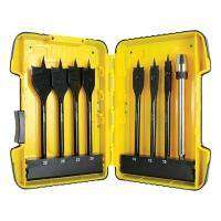 Sheffield 8 PCE Spade Bit Set with Extension Bar TurboBORE Drill Bits - Wood Sheffield (1595950563400)
