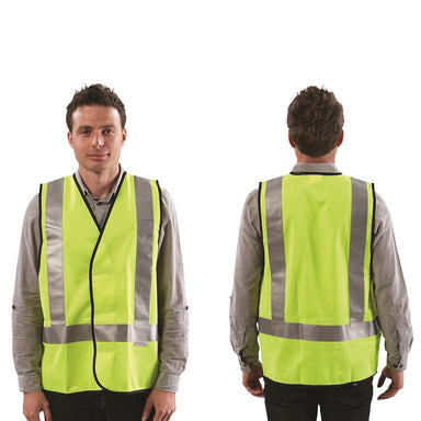 ProChoice Fluoro H Back Safety Vest Day/Night Use with Reflective Tape (1605306122312)