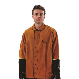 ProChoice High Quality Red Cow Split Leather Pyromate Welders Jacket (1445211603016)
