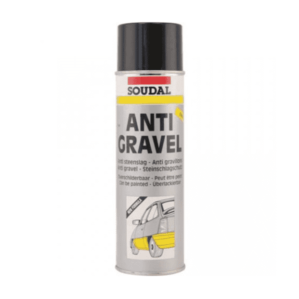 Soudal Anti Gravel Aerosol 500ml Box of 12 Automotive Soudal
