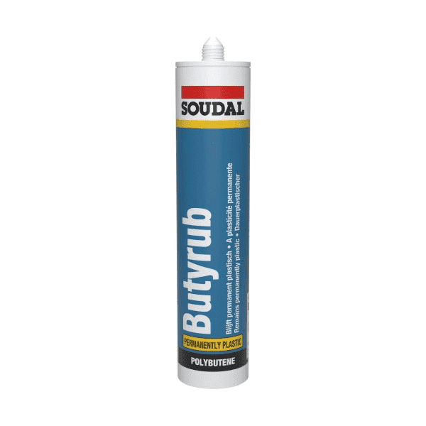 Soudal Butyrub Mastic 310ml Box of 15 - SPF Construction Products