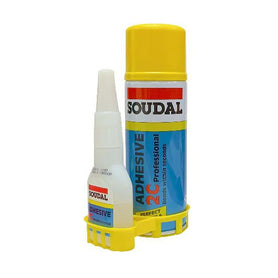 Soudal 2C Adhesive Kits (50 gr Cyano / 200ml Activator) Box of 30