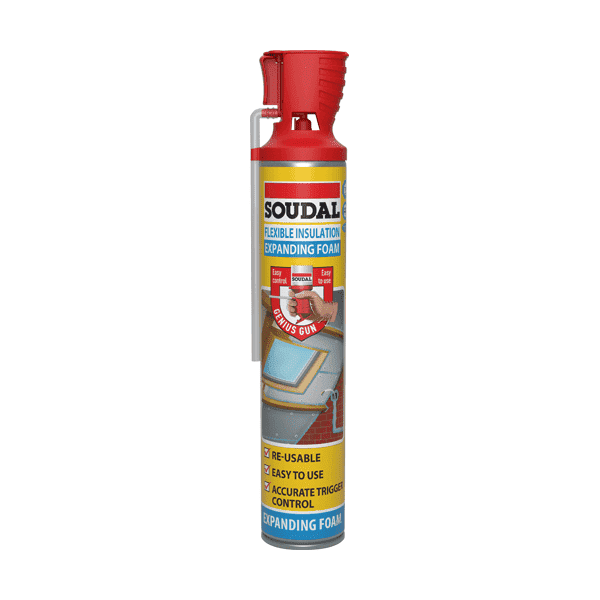 Soudal Flexible Insulation Foam Blue 750ml Box of 12 - SPF Construction Products