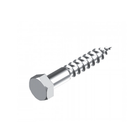 Inox World Stainless Steel M6 Hex Coach Screw A4 (316) Pack of 100