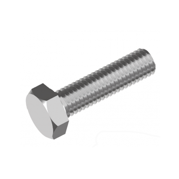 Inox World Stainless Steel M12 Hex Set Screws Bolt A4(316) Pack of 100 (4007256457288)