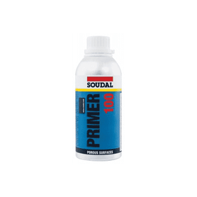 Soudal Primer 100 - Porous Surfaces 500ml Box of 12 Primers For Sealants & Adhesives Soudal