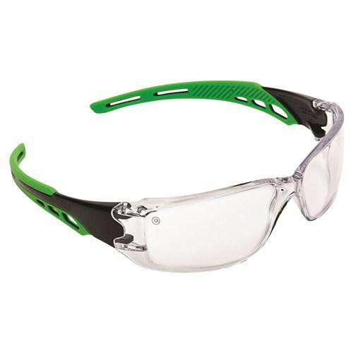 ProChoice Cirrus Green Arms Safety Glasses Clear A/F Lens Pack of 12 (1443801366600)