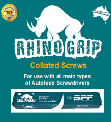 SPF Rhino Grip Collated Self Drilling Screws (6-20 x 25mm - 8-20 x 50mm)