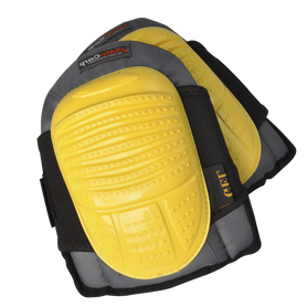 Wallboard Tools Yellow Fully Adjustable Velcro Strap Gel Knee Pads (1651312656456)